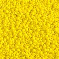11/0 Miyuki Round Rocaille Seed Beads, Opaque Yellow, 10 Gram Bag