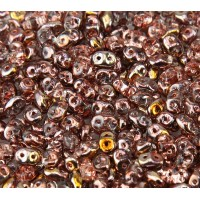 2x5mm Matubo SuperDuo 2-Hole Seed Beads, Apollo Gold, 10 Gram Bag