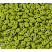2x5mm Matubo SuperDuo 2-Hole Seed Beads, Opaque Olive Green, 10 Gram Bag