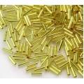 6mm Miyuki Bugle Seed Beads, Silver Lined Yellow