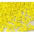 6mm Miyuki Bugle Seed Beads, Opaque Yellow, 10 Gram Bag