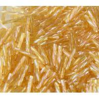 12mm Miyuki Twisted Bugle Seed Beads, Rainbow Light Gold, 10 Gram Bag