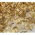 6mm Miyuki Twisted Bugle Seed Beads, Silver Lined Gold, 10 Gram Bag