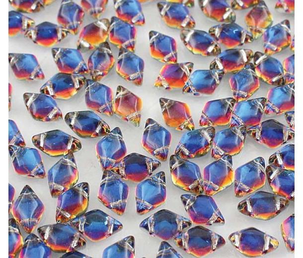 8x5mm Matubo GemDuo 2-Hole Seed Beads, Backlit Vapor, 10 Gram Bag