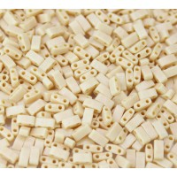 5mm Miyuki Half Tila Beads, Opaque Dark Tan, 10 Gram Bag