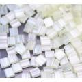 5x5mm Miyuki Tila Beads, Pale Yellow Silk Satin, 7.2 Gram Tube