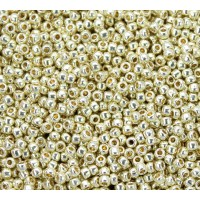 11/0 Toho Round Seed Beads, Galvanized Yellow Gold, 10 Gram Bag