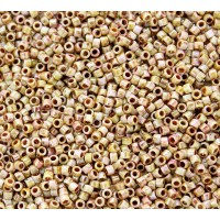 11/0 Toho Treasure Seed Beads, Opaque Rose Gold Topaz Luster, 5 Gram Bag