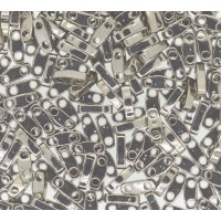 5mm Miyuki Quarter Tila Beads, Nickel Plated, 7.2 Gram Tube