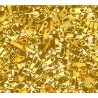 5mm Miyuki Quarter Tila Beads, 24K Gold Plated, 7.2 Gram Tube