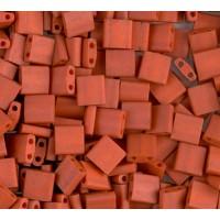 5x5mm Miyuki Tila Beads, Burnt Sienna, 7.2 Gram Tube