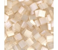 5x5mm Miyuki Tila Beads, Ivory Silk Satin, 7.2 Gram Tube
