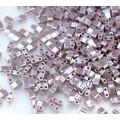 5mm Miyuki Half Tila Beads, Dusky Lilac Luster, 10 Gram Bag
