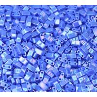 5mm Miyuki Half Tila Beads, Dark Periwinkle Luster, 10 Gram Bag