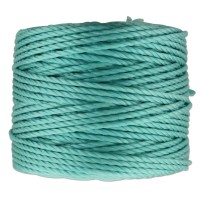 S-Lon Heavy Tex 400 Cord (0.9mm), Aqua, 35 Yard Spool