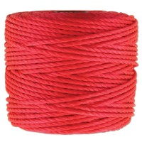S-Lon Heavy Tex 400 Cord (0.9mm), Coral Red, 35 Yard Spool