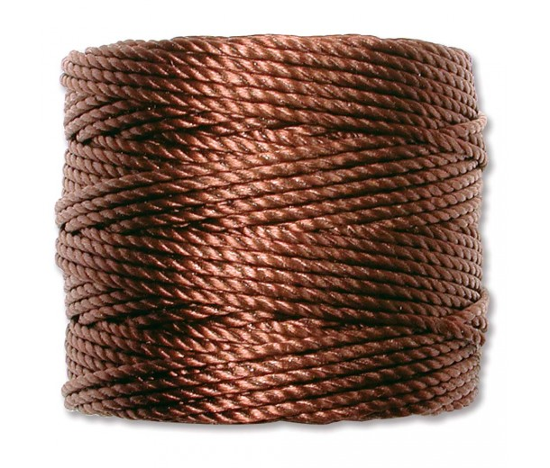 S-Lon Heavy Tex 400 Cord (0.9mm), Brown, 35 Yard Spool