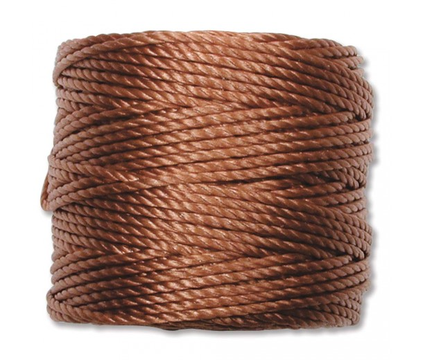 S-Lon Heavy Tex 400 Cord (0.9mm), Copper Brown, 35 Yard Spool