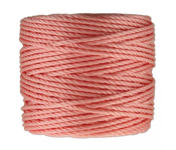 S-Lon Heavy Tex 400 Cord (0.9mm), Light Coral Pink, 35 Yard Spool