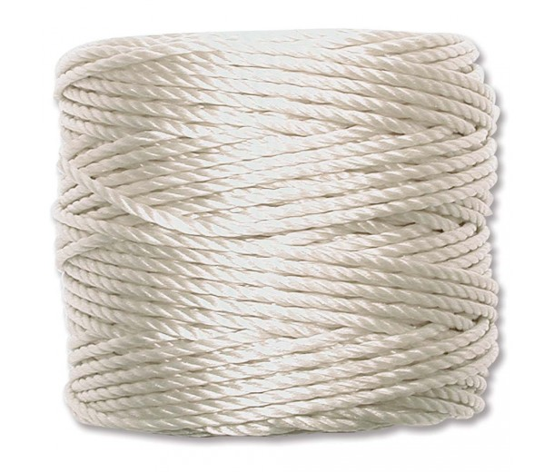 S-Lon Heavy Tex 400 Cord (0.9mm), Cream, 35 Yard Spool