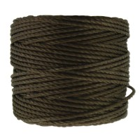 S-Lon Heavy Tex 400 Cord (0.9mm), Dark Brown, 35 Yard Spool