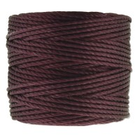 S-Lon Heavy Tex 400 Cord (0.9mm), Eggplant Purple, 35 Yard Spool