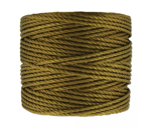 S-Lon Heavy Tex 400 Cord (0.9mm), Golden Olive, 35 Yard Spool