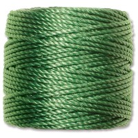 S-Lon Heavy Tex 400 Cord (0.9mm), Green, 35 Yard Spool