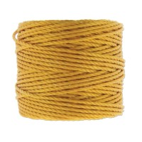 S-Lon Heavy Tex 400 Cord (0.9mm), Light Golden Yellow, 35 Yard Spool