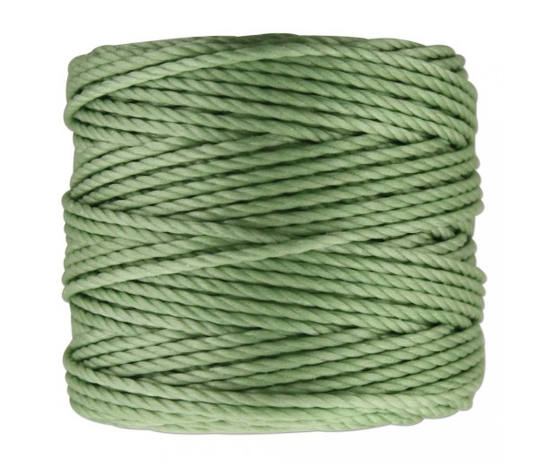 S-Lon Heavy Tex 400 Cord (0.9mm), Mint Green, 35 Yard Spool