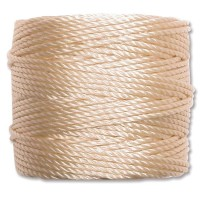 S-Lon Heavy Tex 400 Cord (0.9mm), Natural Color, 35 Yard Spool