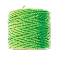 S-Lon Heavy Tex 400 Cord (0.9mm), Neon Green, 35 Yard Spool