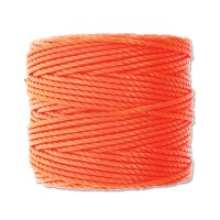 S-Lon Heavy Tex 400 Cord (0.9mm), Neon Orange, 35 Yard Spool