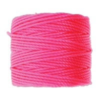 S-Lon Heavy Tex 400 Cord (0.9mm), Neon Pink, 35 Yard Spool