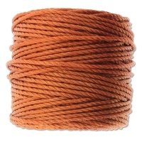 S-Lon Heavy Tex 400 Cord (0.9mm), Rust Orange, 35 Yard Spool