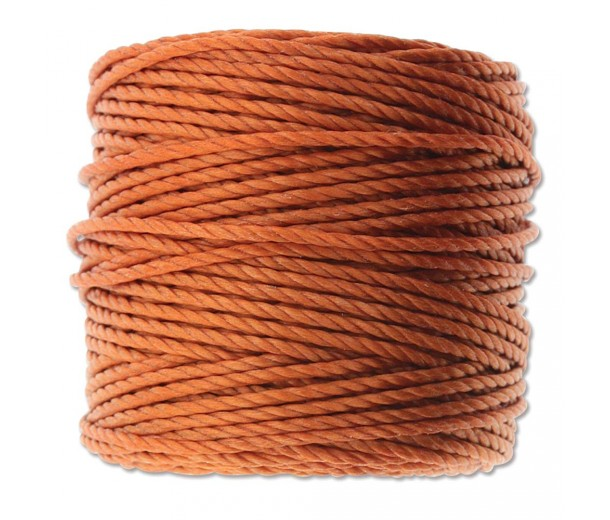 S-Lon Heavy Tex 400 Cord (0.9mm), Rust Orange, 35 Yard Spool