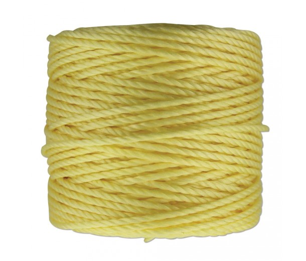 S-Lon Heavy Tex 400 Cord (0.9mm), Lemon Yellow, 35 Yard Spool
