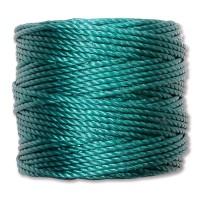 S-Lon Heavy Tex 400 Cord (0.9mm), Teal, 35 Yard Spool