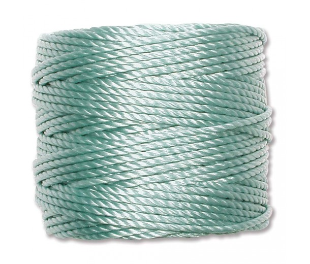 S-Lon Heavy Tex 400 Cord (0.9mm), Pastel Teal, 35 Yard Spool