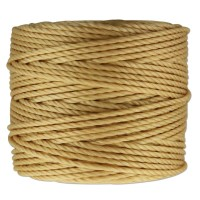 S-Lon Heavy Tex 400 Cord (0.9mm), Wheat Yellow, 35 Yard Spool