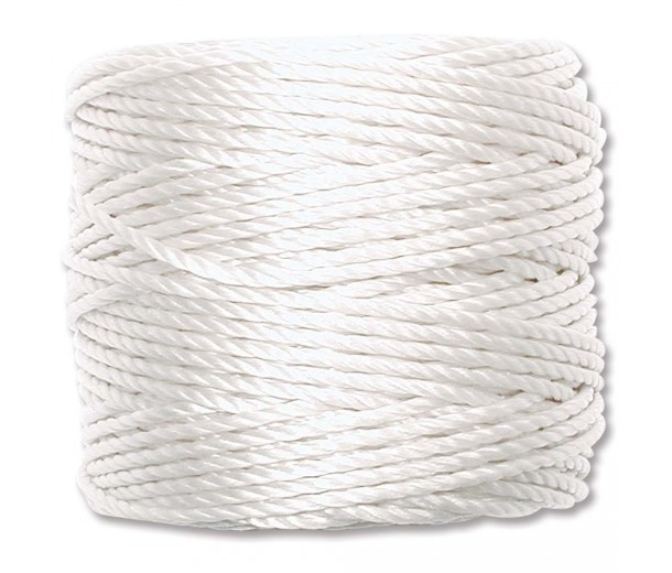 S-Lon Heavy Tex 400 Cord (0.9mm), White, 35 Yard Spool