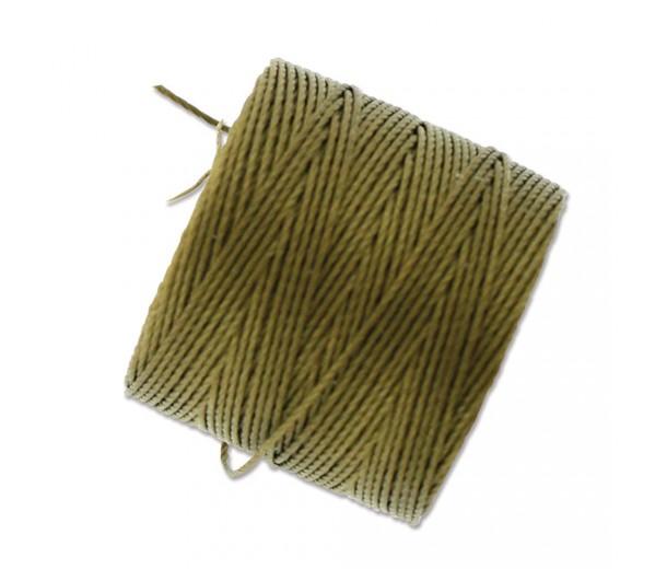 S-Lon Regular Tex 210 Bead Cord (0.5mm), Antique Golden, 77 Yard Spool