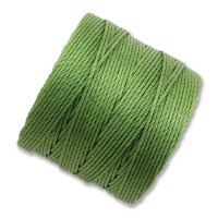 S-Lon Regular Tex 210 Bead Cord (0.5mm), Avocado Green, 77 Yard Spool