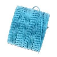 S-Lon Regular Tex 210 Bead Cord (0.5mm), Bermuda Blue, 77 Yard Spool