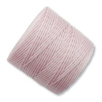 S-Lon Regular Tex 210 Bead Cord (0.5mm), Blush Pink, 77 Yard Spool