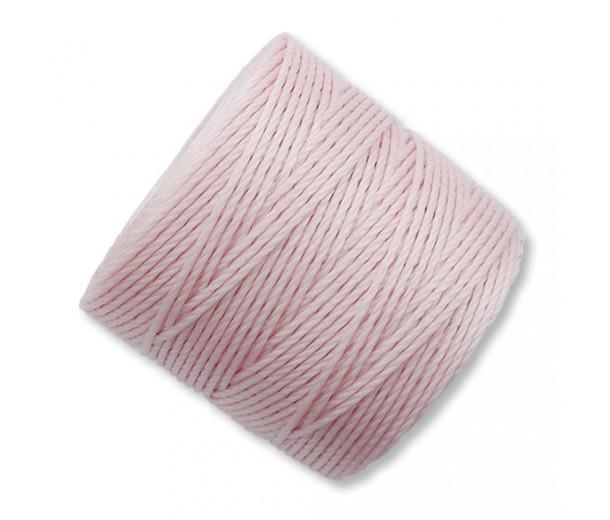 S-Lon Regular Tex 210 Bead Cord (0.5mm), Blush Pink, 77 Yard Spool