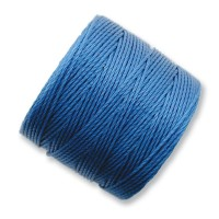 S-Lon Regular Tex 210 Bead Cord (0.5mm), Blue, 77 Yard Spool