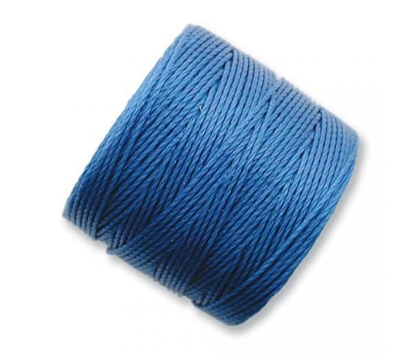 S-Lon Regular Tex 210 Bead Cord (0.5mm), Blue, 77 Yard Spool