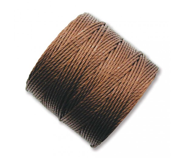 S-Lon Regular Tex 210 Bead Cord (0.5mm), Brown, 77 Yard Spool