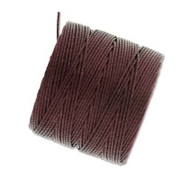 S-Lon Regular Tex 210 Bead Cord (0.5mm), Purple Brown, 77 Yard Spool